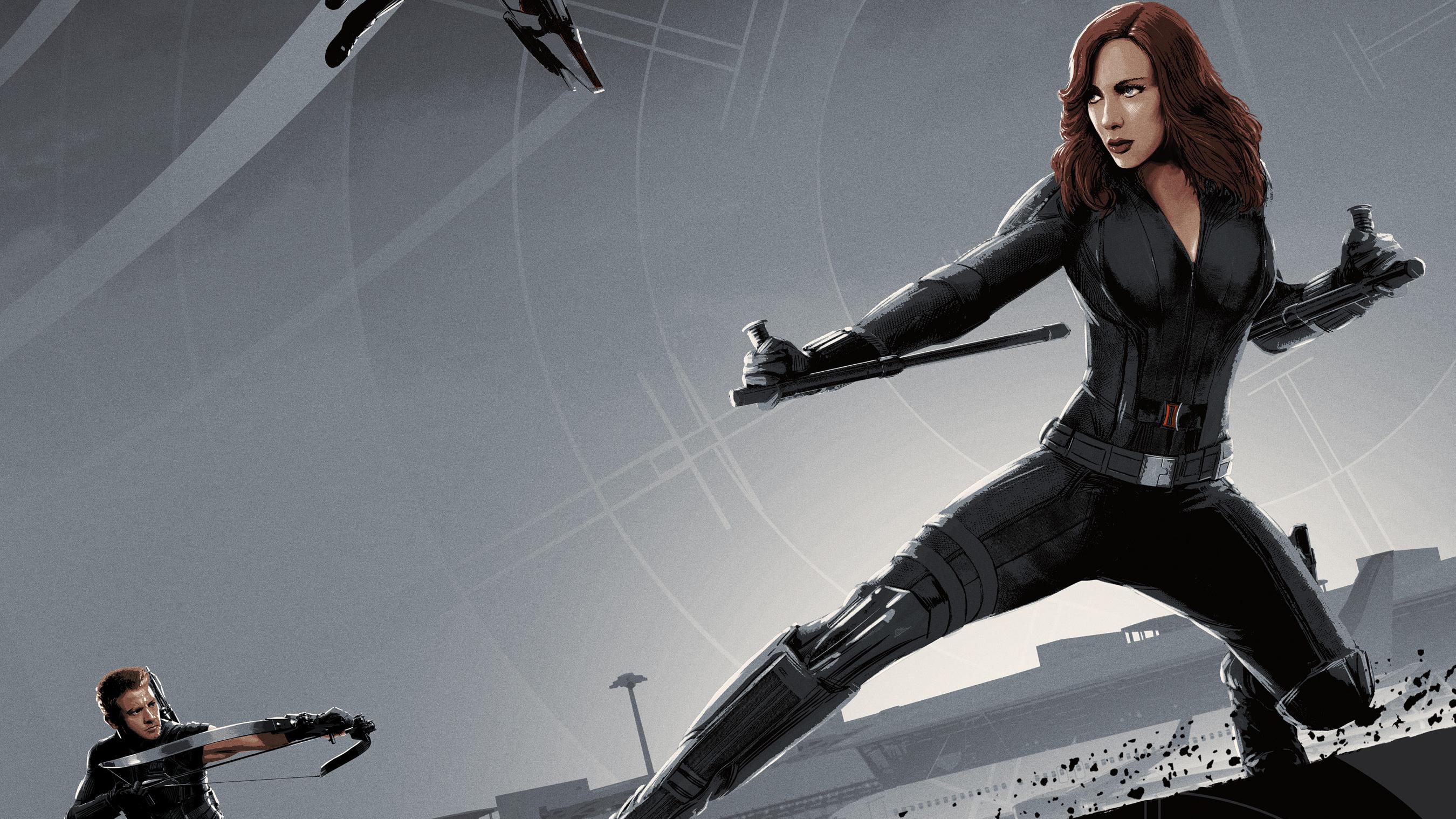2048x2048 Black Widow Poster Art Ipad Air Hd 4k Wallpapers