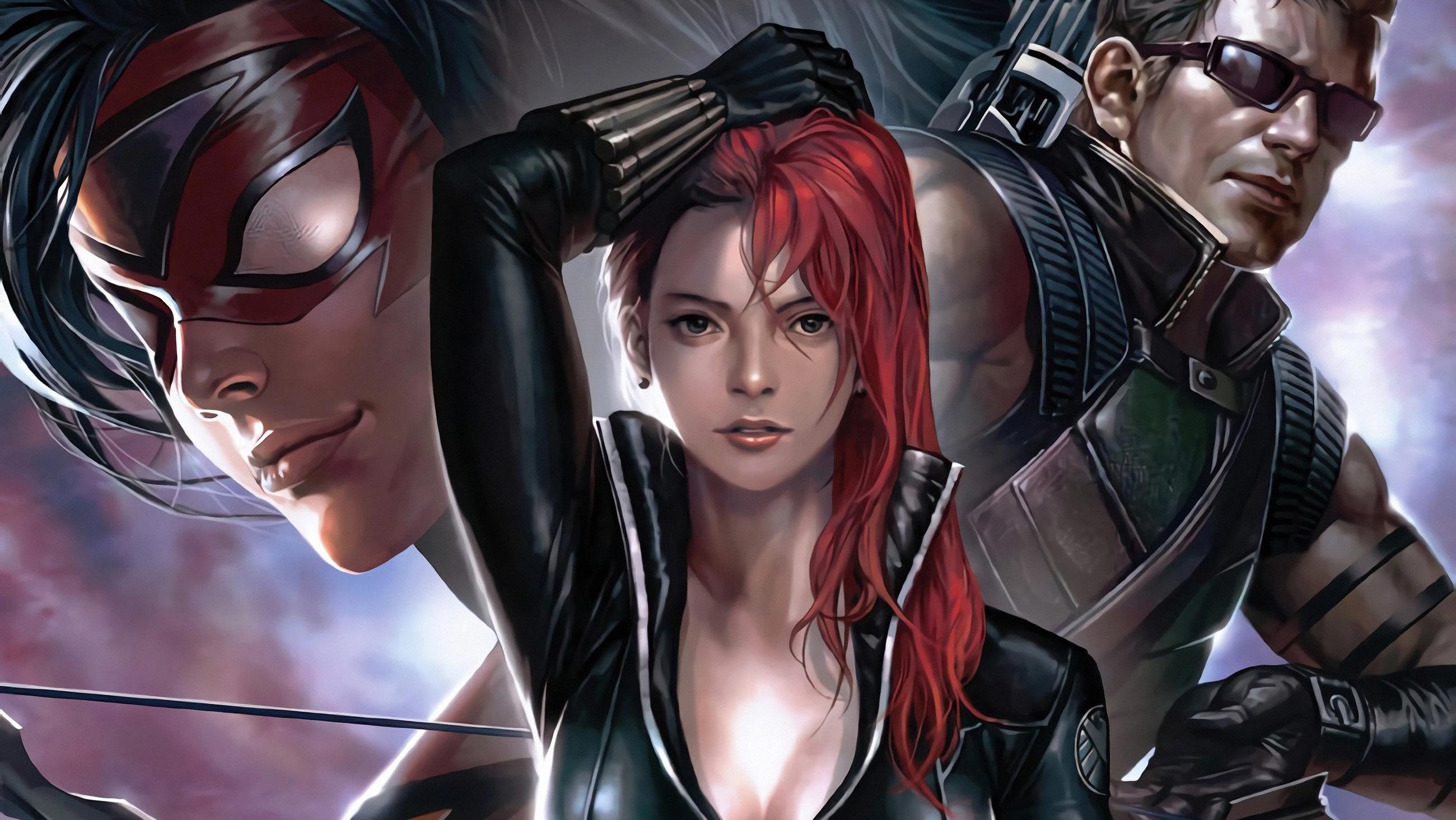 Black Widow Team Hd Superheroes 4k Wallpapers Images