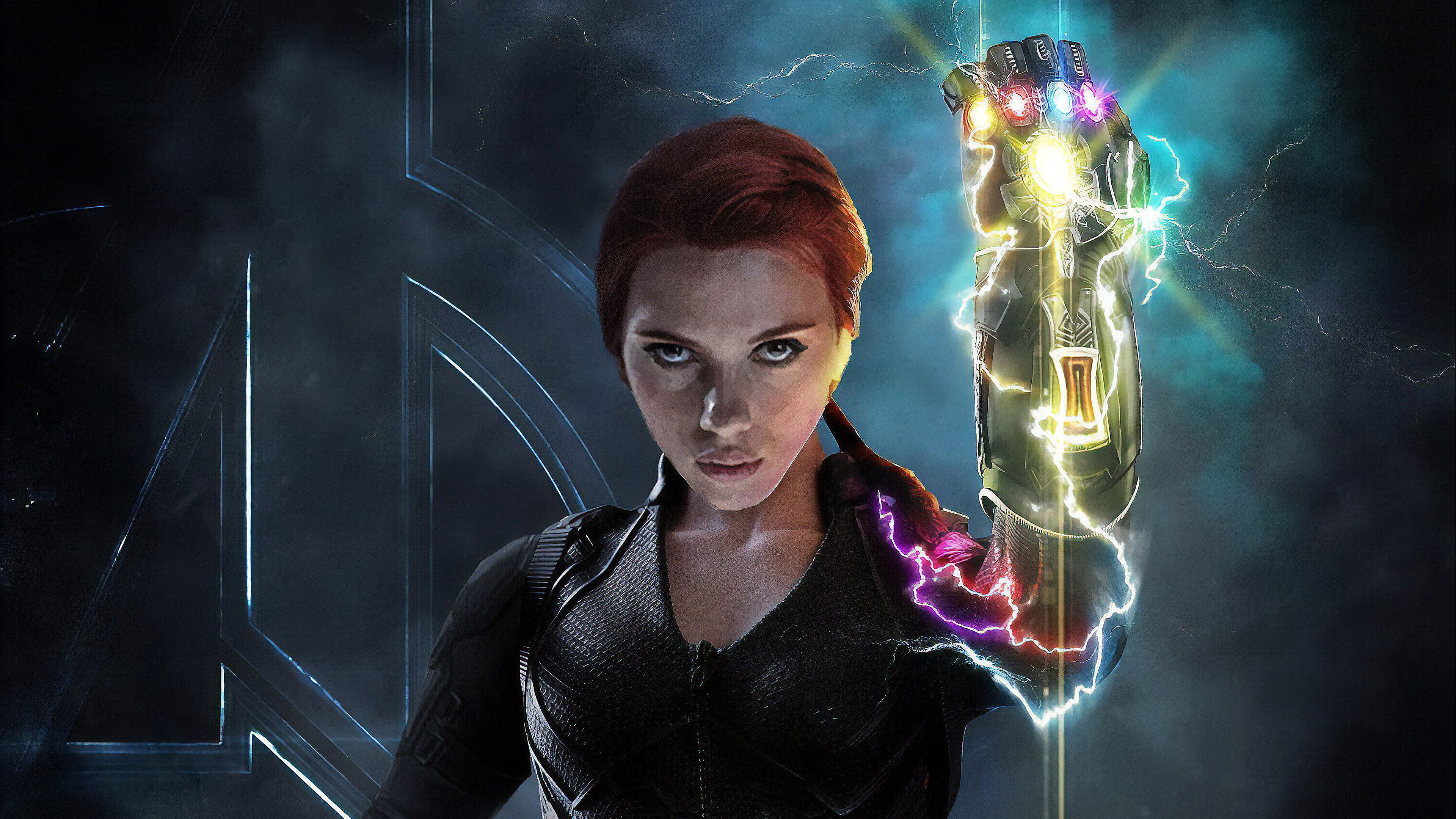 2560x1700 Black Widow With Infinity Gauntlet Chromebook Pixel Hd 4k Wallpapers Images Backgrounds Photos And Pictures