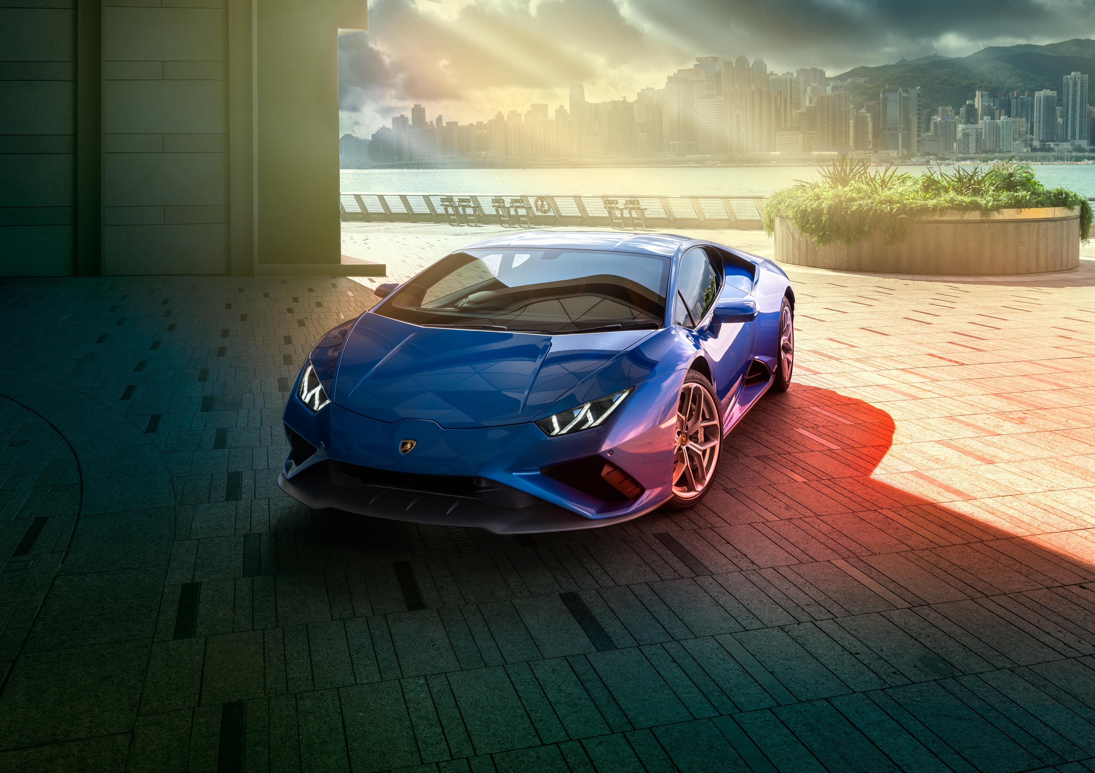 1366x768 Blue Lamborghini Huracan Rear 4k 1366x768 ...