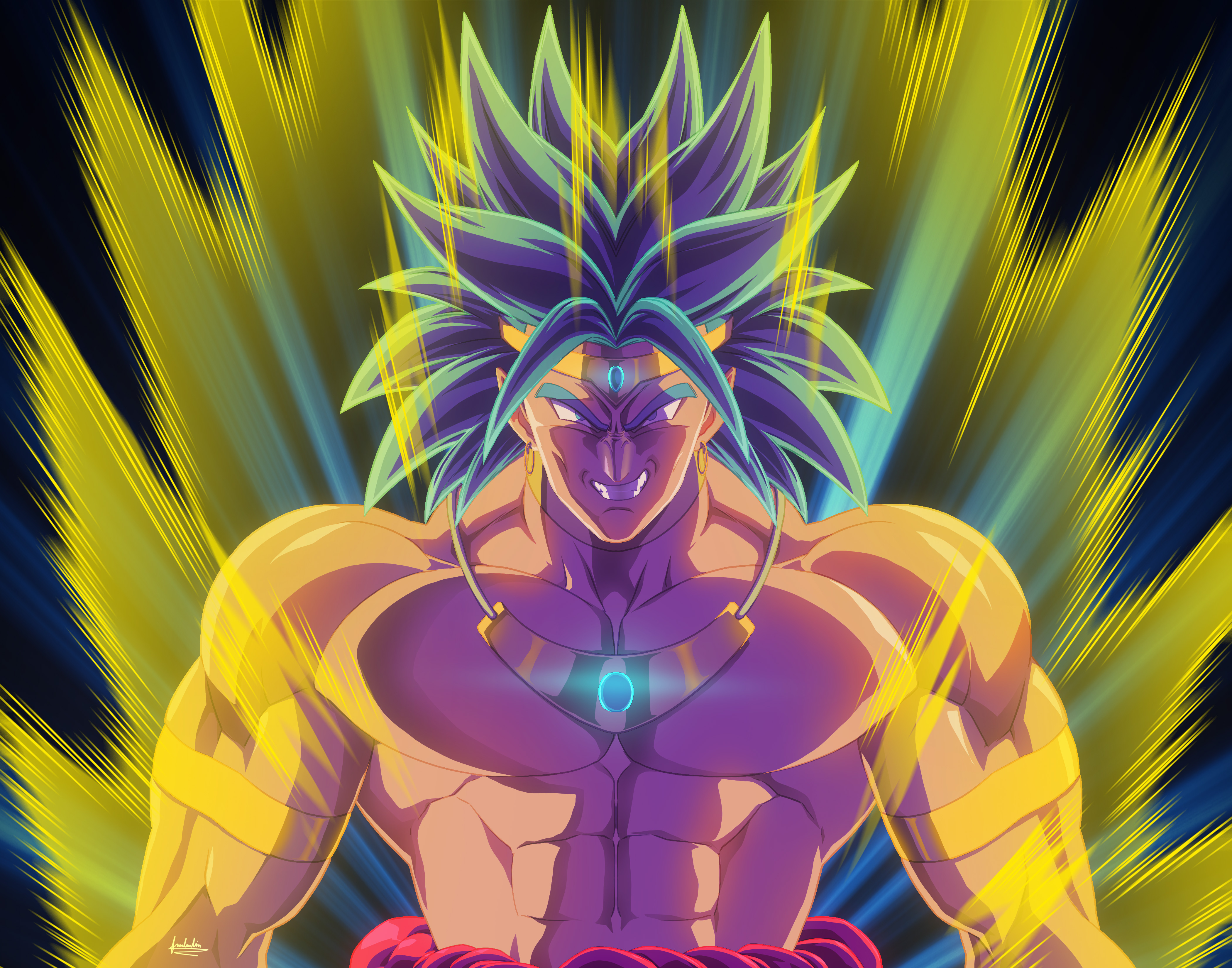 Broly Dragon Ball Z Anime Artwork Hd Anime 4k Wallpapers Images Backgrounds Photos And Pictures