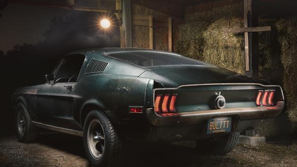 Full HD 1968 Mustang Gt Fastback 8k Rear Wallpaper