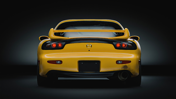 Full HD Mazda Sports Car In Forest Road Wallpaper