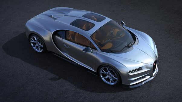 Full HD Bugatti Chiron Sky View 2018 Wallpaper