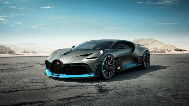 Full HD Bugatti Divo Red Performance Rear Wallpaper