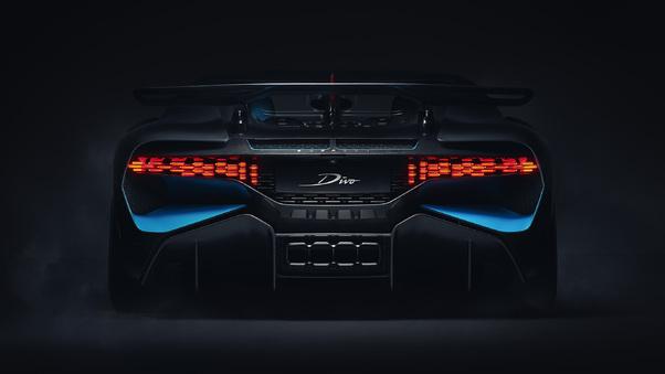 Full HD Bugatti Divo Coral Blue 2018 Wallpaper