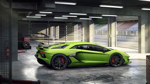 Full HD Orange Lamborghini Aventardor Svj 4k Wallpaper