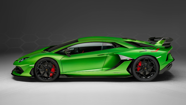 Full HD 2018 Lamborghini Aventador Svj Side View Wallpaper