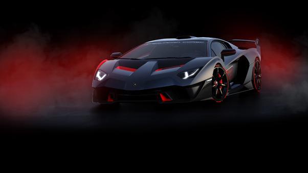 Full HD 2018 Lamborghini Sc18 Rear Wallpaper