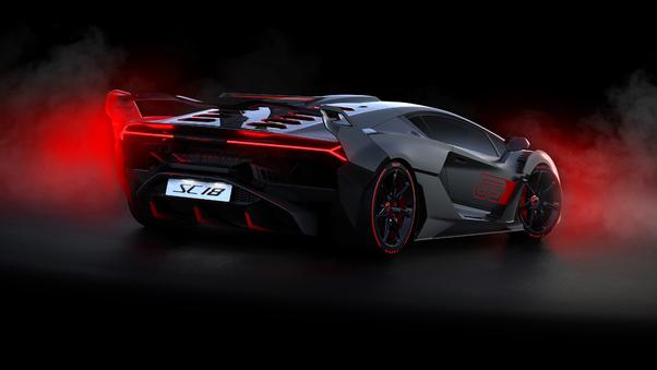 Full HD 2018 Lamborghini Sc18 Rearview Wallpaper