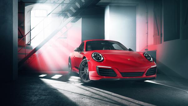 Full HD Porsche 911 Rear 4k Wallpaper