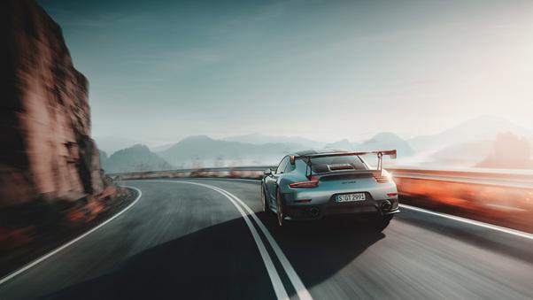 Full HD 2018 Porsche 911 Gt2 Rs Rear Wallpaper