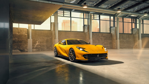 Full HD 2019 Ferrari 812 Superfast Novitec Side View Wallpaper
