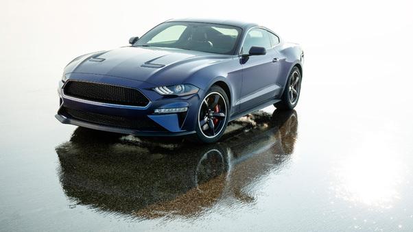 Full HD Black Ford Mustang 4k 2020 Wallpaper