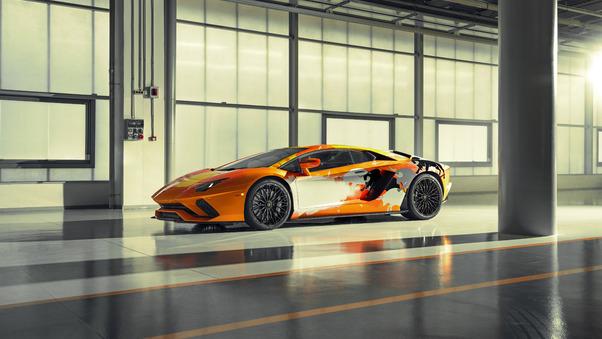 Full HD Lamborghini Aventador S By Yohji Yamamoto Front View 10k Wallpaper