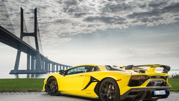 Full HD 2019 Lamborghini Aventador Svj Rear Wallpaper