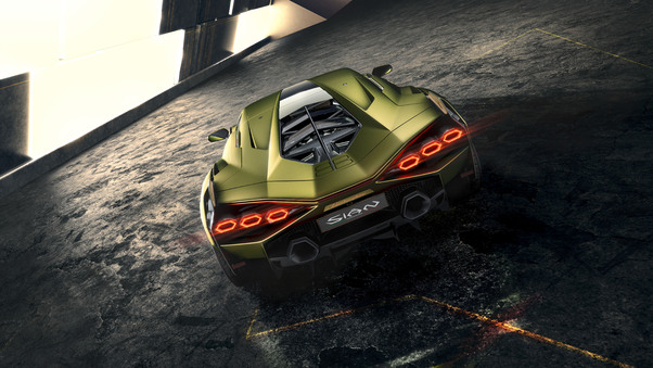 Full HD Lamborghini Sian Roadster 2020 Front Wallpaper