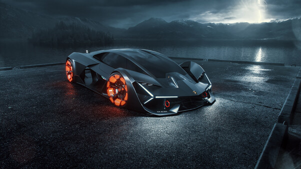 Full HD 2019 Lamborghini Terzo Millennio Digital Art Wallpaper