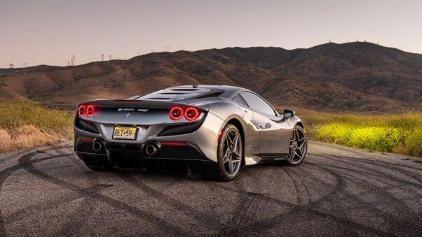 Full HD 2020 Ferrari F8 Tributo Rear Wallpaper