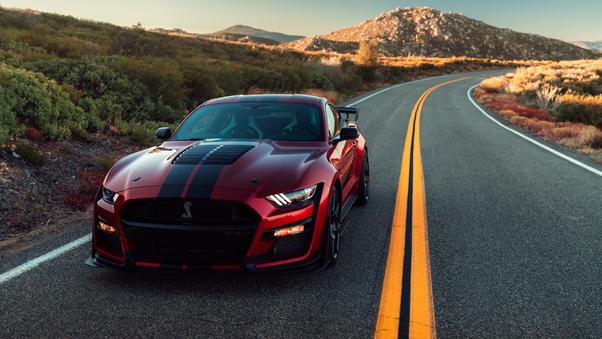 Full HD Blue Ford Mustang Wallpaper