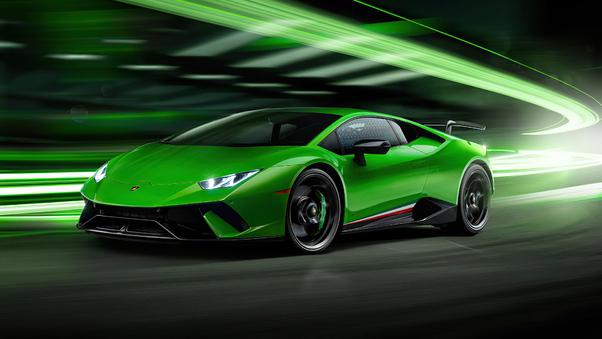 Full HD Lamborghini Huracan Perfomante Spyder 2018 Wallpaper