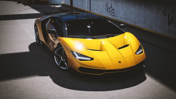 Full HD Lamborghini Centenario Upper View Wallpaper