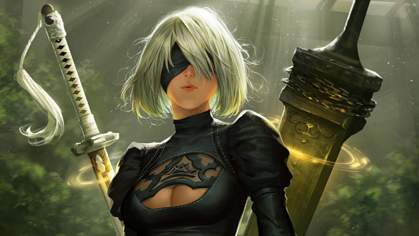 Nier Automata Fan Art Wallpaper 01 1920x1080: 2B NieR Automata Fan Art, HD Games, 4k Wallpapers, Images
