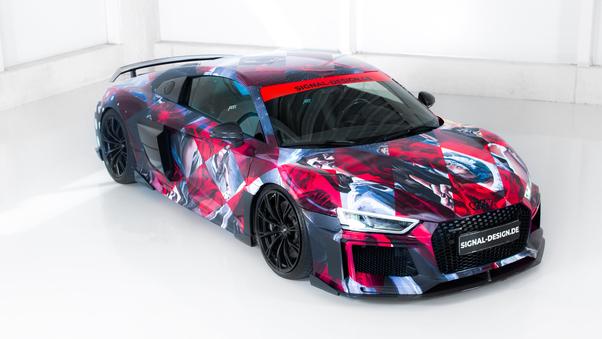 Full HD Audi R8 V10 Plus 2018 Rear Look 4k Wallpaper