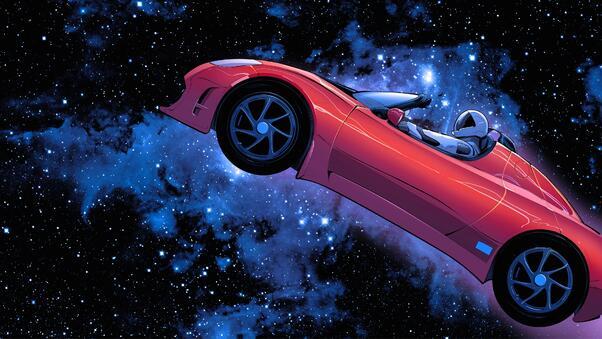 Full HD Tesla Roadster 2018 4k Wallpaper
