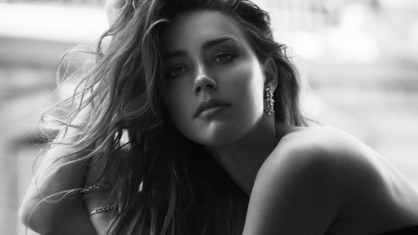 Amber Heard Black And White Hd Celebrities 4k Wallpapers Images