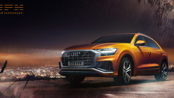 Full HD Audi Q8 55 Tfsi Quattro S Line 2018 Front Wallpaper