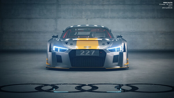 Full HD Audi R8 Front Led Wallpaper