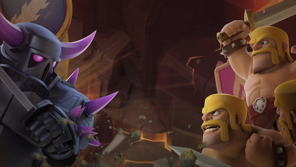 Barbarian Vs Pekka Clash Of Clans Hd Games 4k Wallpapers Images Backgrounds Photos And Pictures