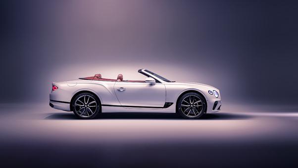Full HD Bentley Continental Gt Convertible 2019 Upper View Wallpaper