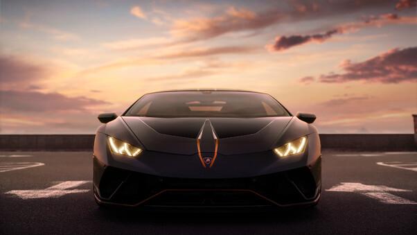 Full HD Black Lamborghini 4k Wallpaper