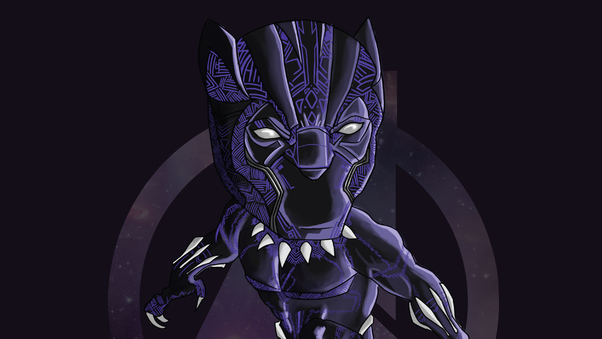 Black Panther Doodle Art Hd Superheroes 4k Wallpapers Images Backgrounds Photos And Pictures