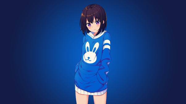 Blue Bunny Girl Anime 4k Hd Anime 4k Wallpapers Images