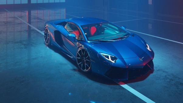 Full HD Lamborghini Aventador Sv 2018 Wallpaper
