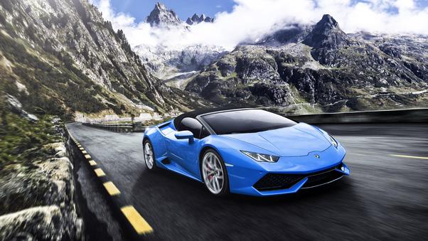 Full HD Blue Lamborghini Huracan 5k Wallpaper