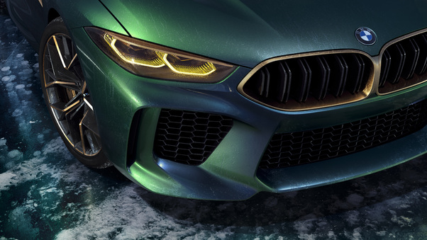 Full HD Bmw Concept M8 Gran Coupe Headlights Wallpaper