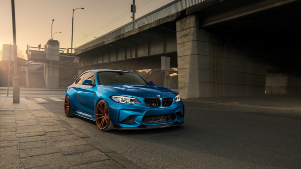 Full HD Bmw M2 Competition M Performance 2018 Drifting Wallpaper