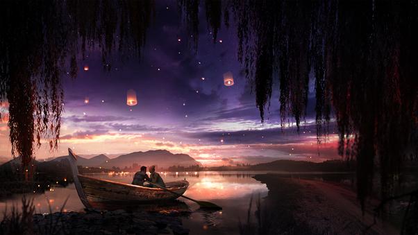 boat-couple-dreamy-painting-lake-lantern-xr.jpg