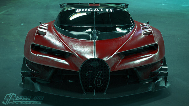 Full HD Bugatti 3d Wallpaper