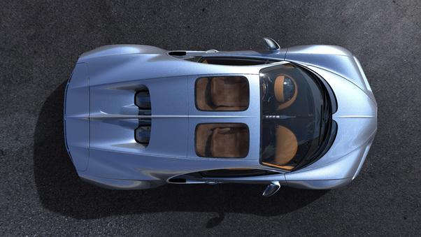 Full HD Bugatti Chiron Sky View 2018 Rear Wallpaper