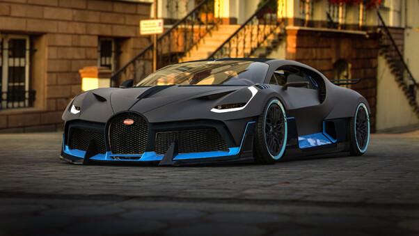 Full HD Bugatti Divo 2018 Upper View Wallpaper