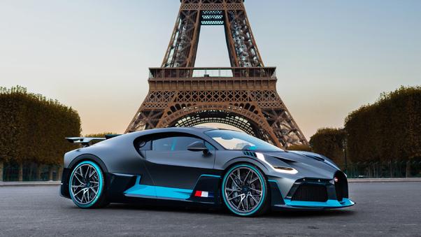 Full HD White Bugatti Divo Wallpaper