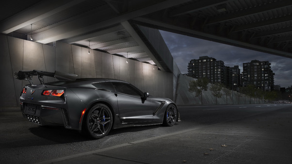Full HD Chevrolet Corvette Zr1 2019 Side View Wallpaper