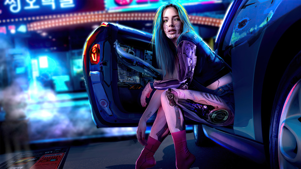 cyber-girl-coming-out-of-car-5k-up.jpg