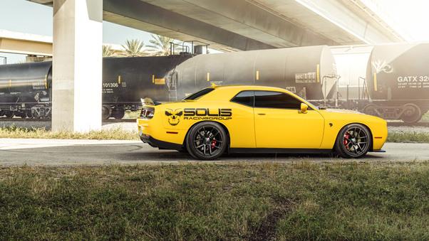 Full HD 2018 Dodge Challenger Srt Hellcat Widebody Front Wallpaper