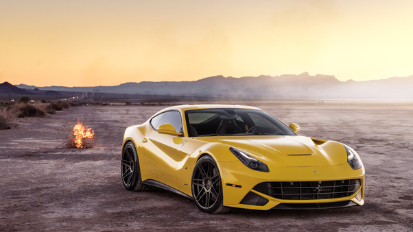 Full HD Ferrada Sema Yellow Ferrari F12 Front Wallpaper